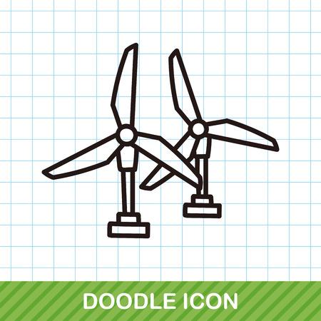 wind power plant: wind power plant doodle