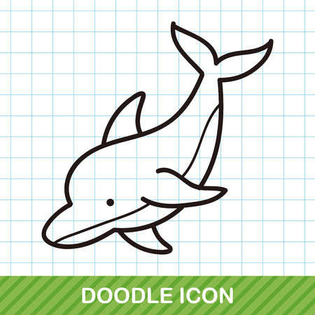 sea animal dolphin doodle