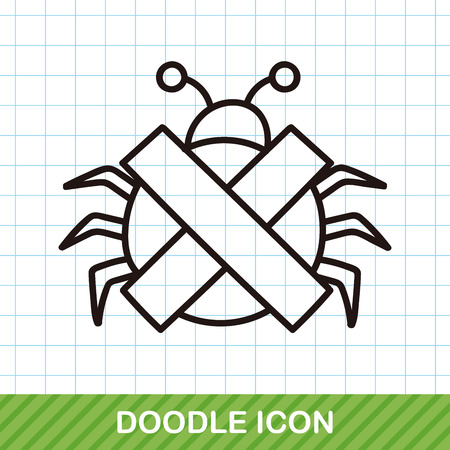 computer bug: computer bug doodle
