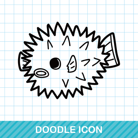 puffer: sea animal Puffer doodle