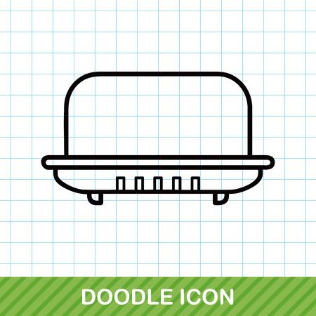rinse: soap doodle Illustration