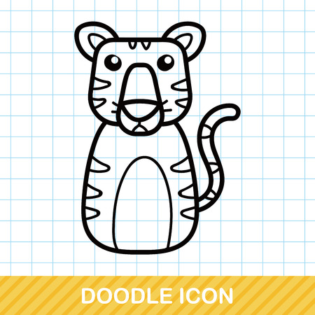 zoo: Chinese Zodiac tiger doodle