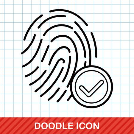 biometrics: Fingerprint machine doodle