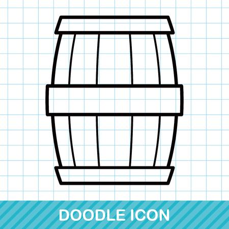 wine bar: wine barrel doodle