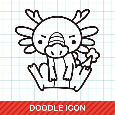 illustration zoo: Chinese Zodiac dragon doodle