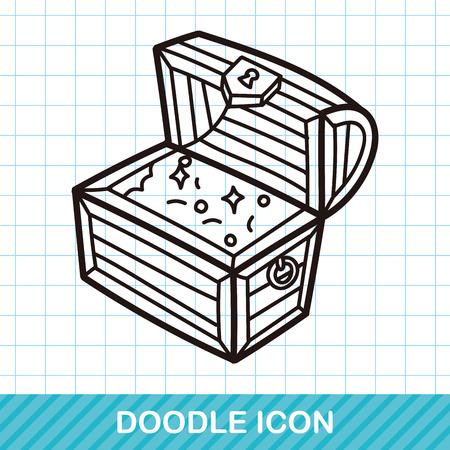 gold treasure: Treasure doodle