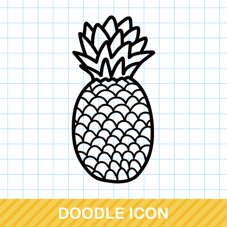 pineapple: pineapple doodle Illustration