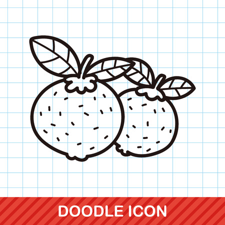 mandarin oranges: Chinese New Year Mandarin Oranges doodle
