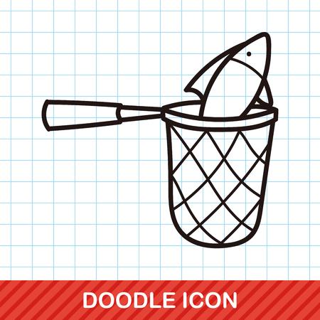 fishing net: Fishing net doodle Illustration