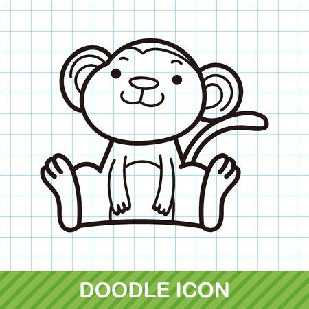 zoo: Chinese Zodiac monkey doodle