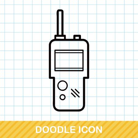 transmit: walkie doodle Illustration