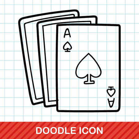 poker card: poker card doodle