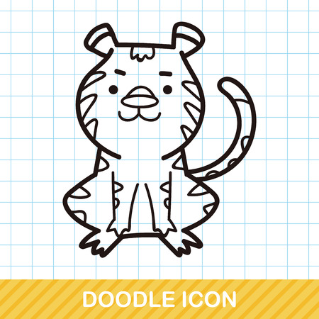 illustration zoo: Chinese Zodiac tiger doodle