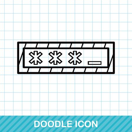 password: Password doodle Illustration