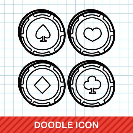 ace of diamonds: poker doodle