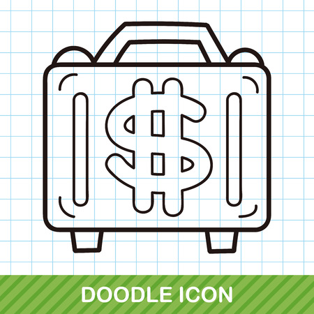 in case: money case doodle