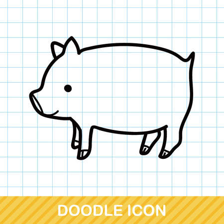 pig with wings: pig doodle