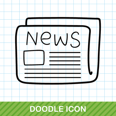 newsprint: newspaper doodle Illustration