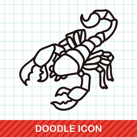 catarina caricatura: doodle de error Vectores