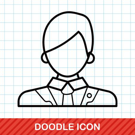 wig: lawyer doodle Illustration