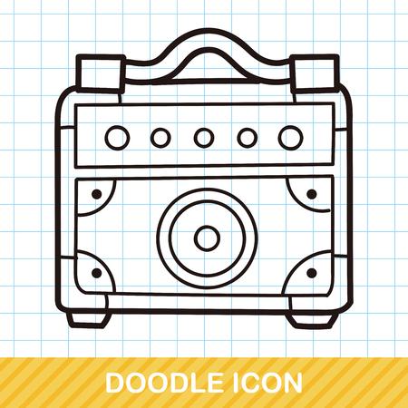 equipo de sonido: Doodle de estéreo Vectores