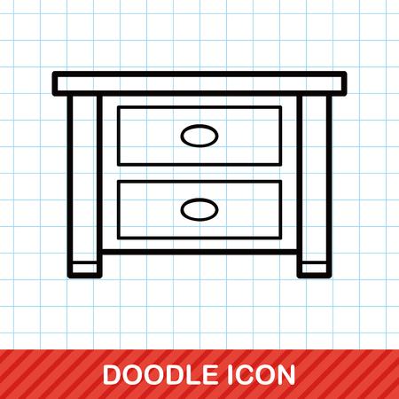 closet: Cabinet closet doodle Illustration