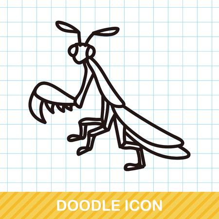 ladybug cartoon: bug doodle Illustration