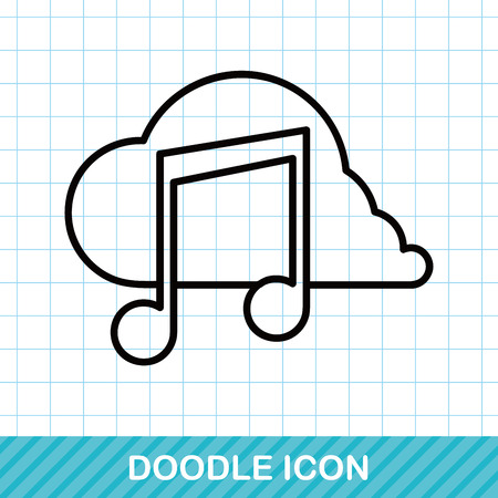 music: music doodle Illustration