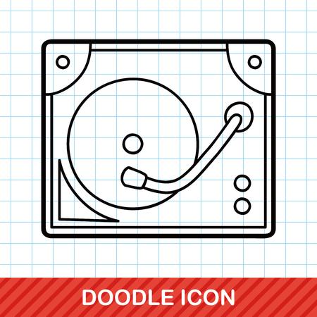 disk: DJ disk doodle Illustration
