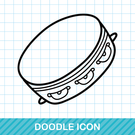 musical instrument Tambourine doodle