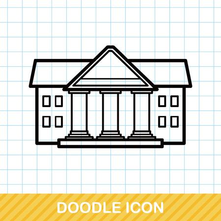 derecho romano: doodle de corte Vectores