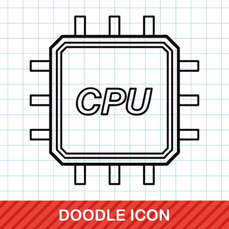 ic: cpu doodle Illustration