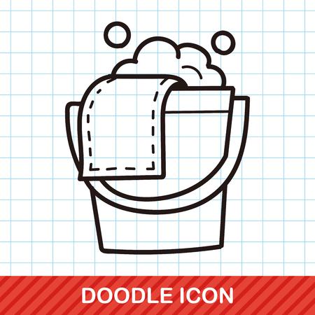 water bucket: water bucket doodle