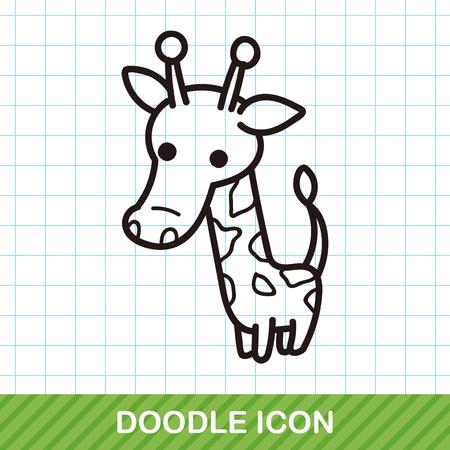 zoo: animal giraffe doodle Illustration