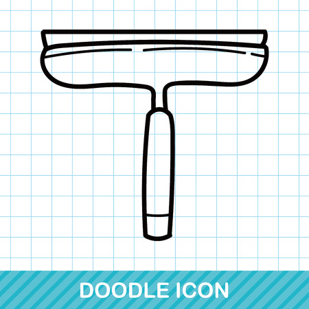 cleaning service: cleaning brush doodle