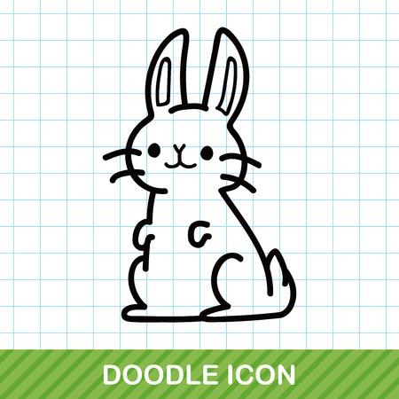 zoo: animal rabbit doodle