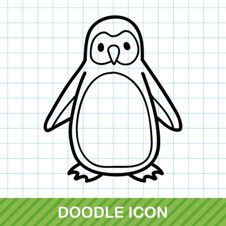 pinguino caricatura: animales ping�ino garabato