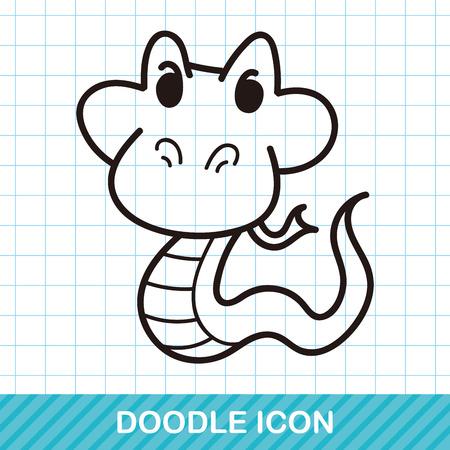 snake cartoon: animal snake doodle