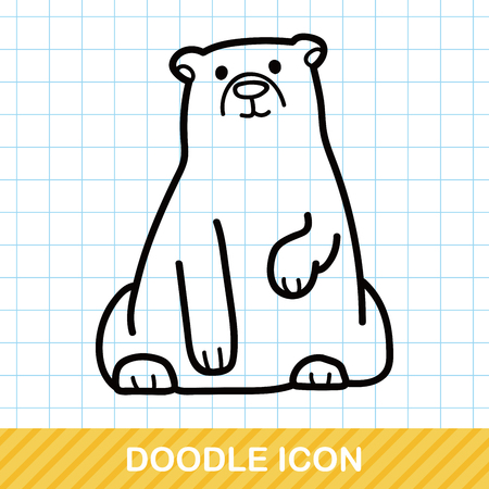 zoo: animal polar bear doodle