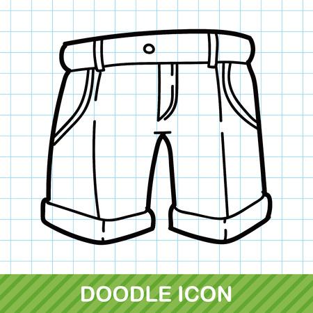 underside: pants doodle Illustration