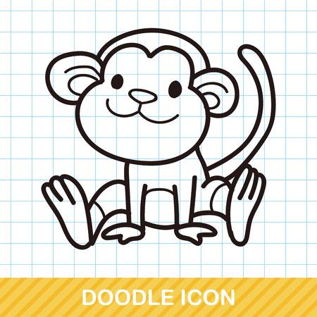 zoo: animal monkey doodle
