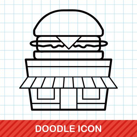 store: hamburger store doodle