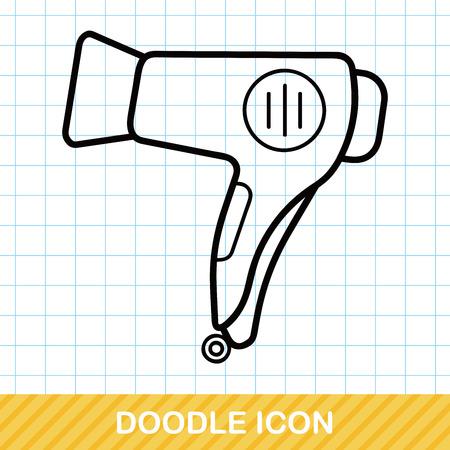dryer: Hair dryer doodle