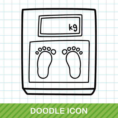 weighing machine: Weighing machine doodle