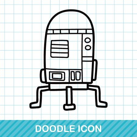 robot toy: space machine doodle