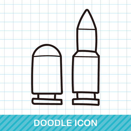 military and war icons: Bullet doodle