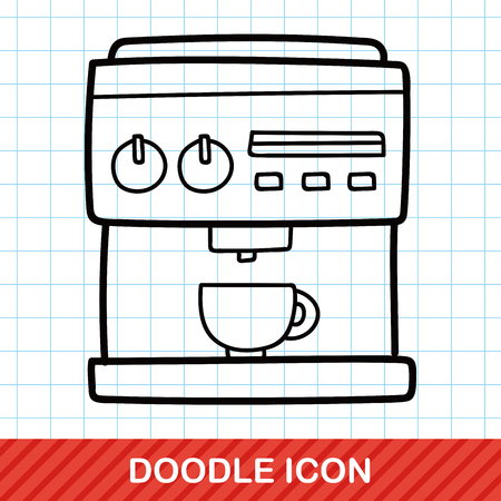 grinder machine: coffee machine doodle