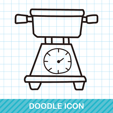 weighing scale: Weighing machine doodle