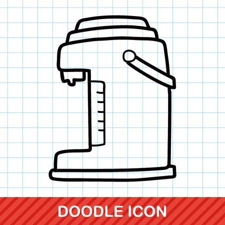 hot water bottle: Hot water bottle doodle