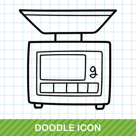 weighing: Weighing machine doodle